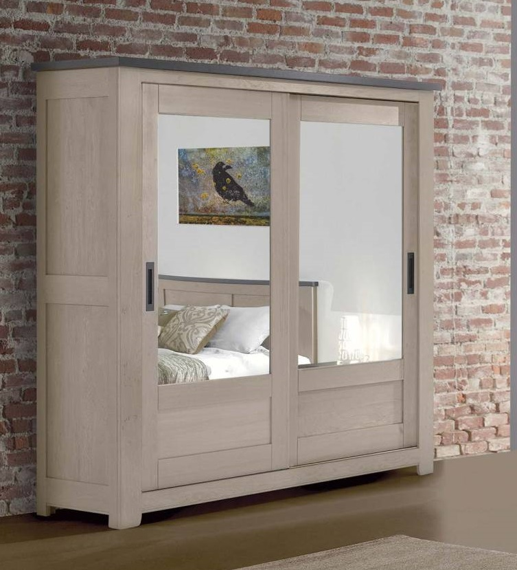 armoire whitney 2 portes de 2 m w320gm. Black Bedroom Furniture Sets. Home Design Ideas