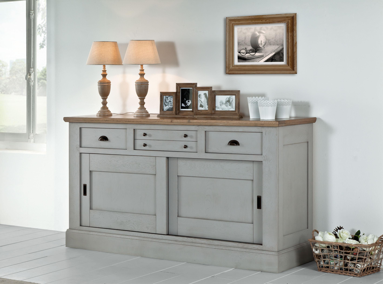 bahut romance 2 portes et 3 tioirs ro423. Black Bedroom Furniture Sets. Home Design Ideas