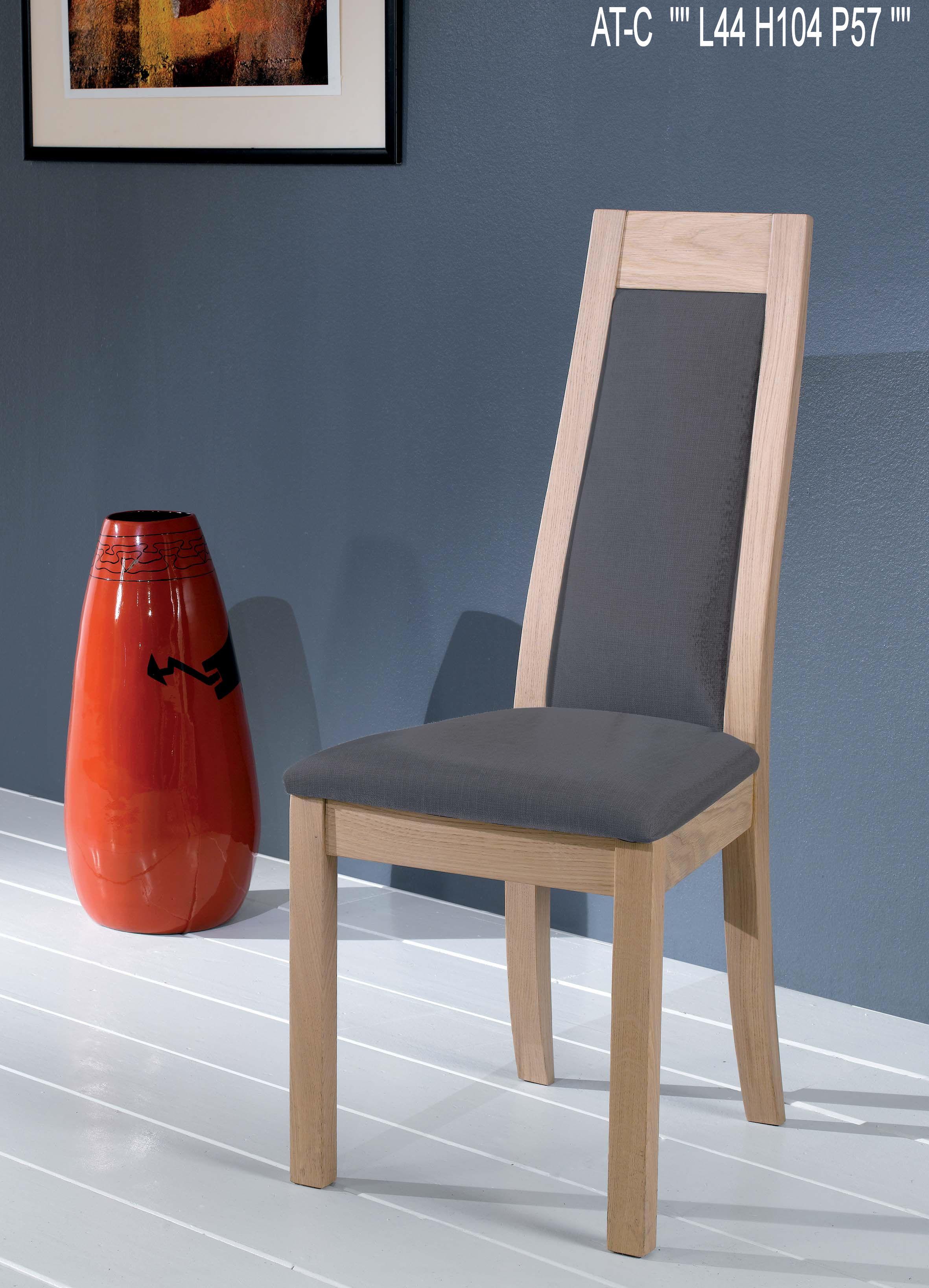 chaise c ram assise dossier gris fonc cd29gf. Black Bedroom Furniture Sets. Home Design Ideas