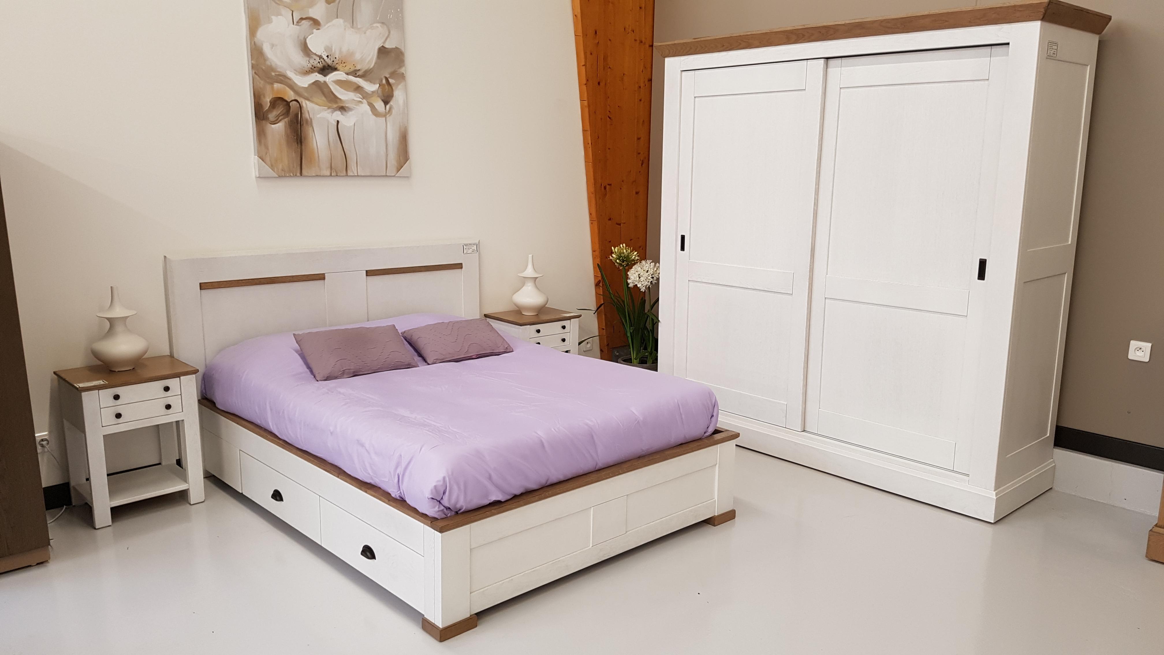 lit romance pour 140 x 190 avec 2 tiroirs ro1419t. Black Bedroom Furniture Sets. Home Design Ideas