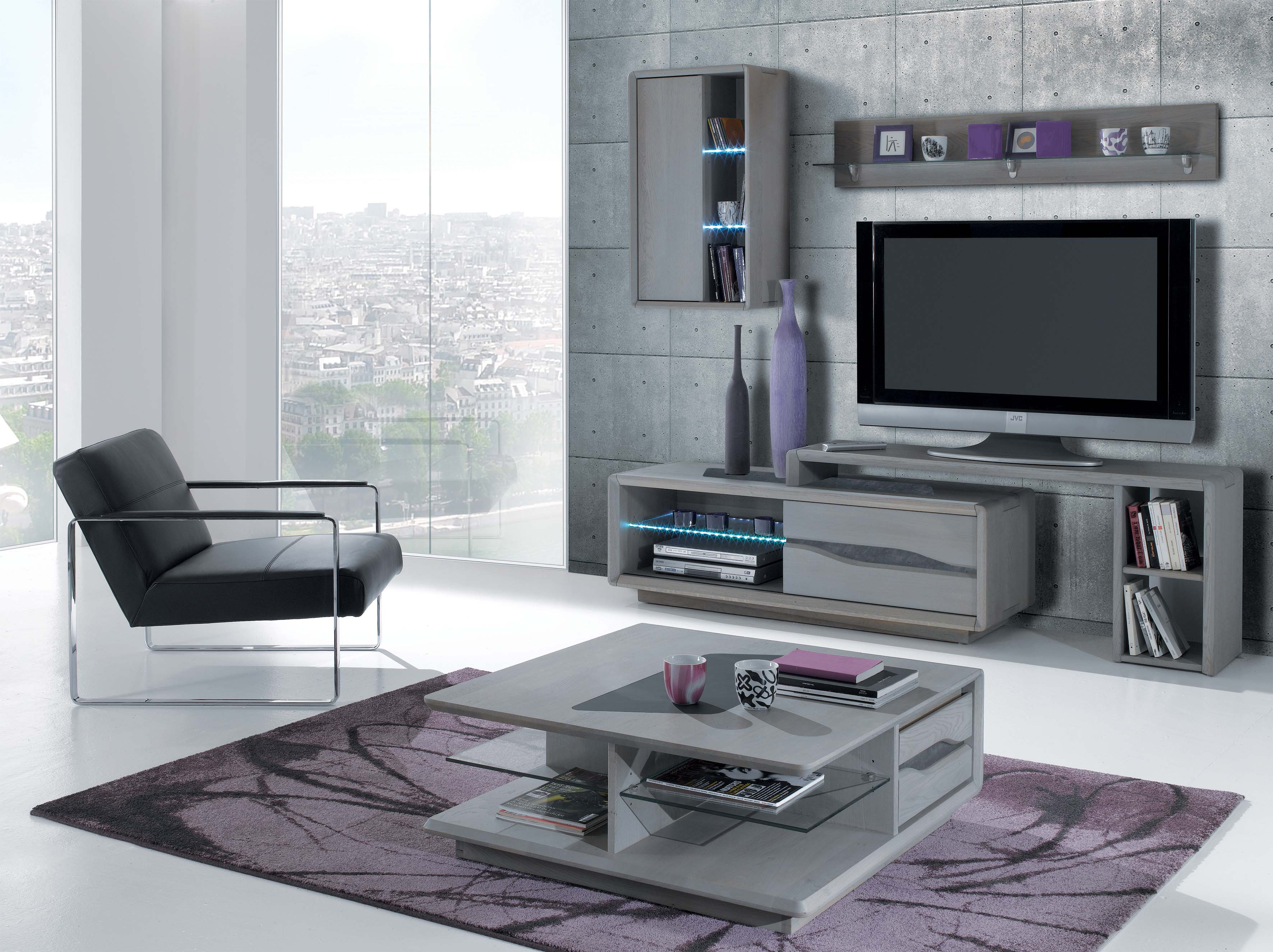 Meuble Tv Design Contemporain Ce810gm # Meuble Tv Violet