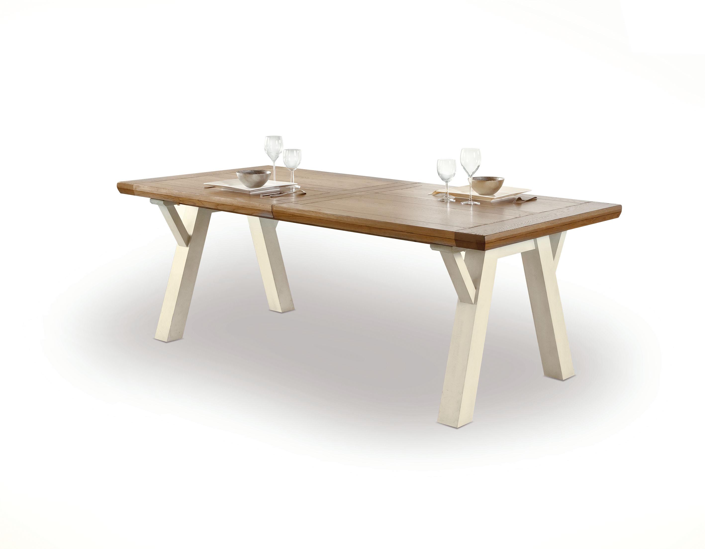 table rectangulaire treteaux romance avec 1 allonge rotre210. Black Bedroom Furniture Sets. Home Design Ideas