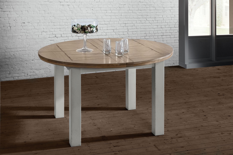 table ronde romance avec 1 allonge rotro125. Black Bedroom Furniture Sets. Home Design Ideas