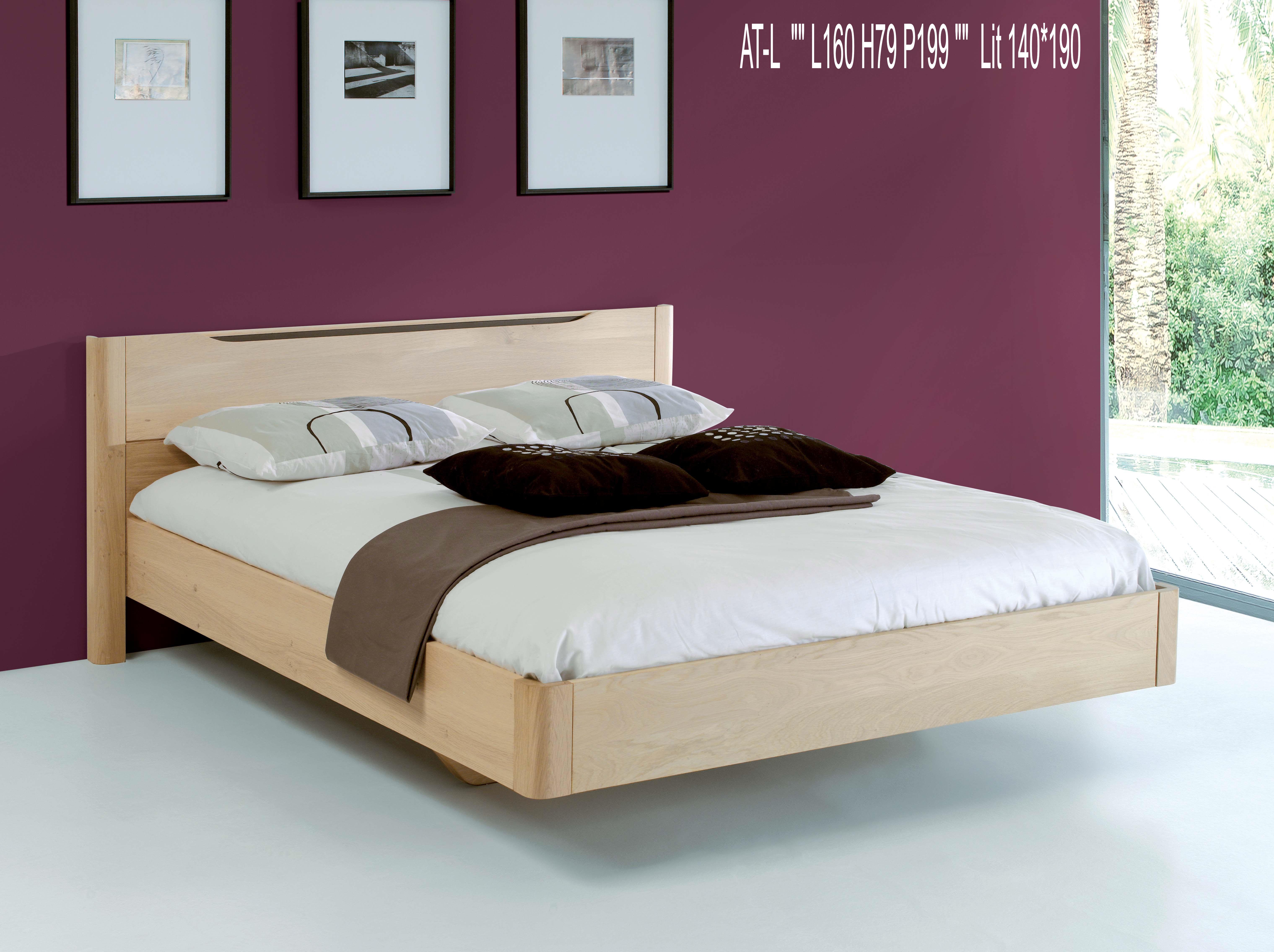 lit contemporain lilou pour 160 x 200 l1620. Black Bedroom Furniture Sets. Home Design Ideas