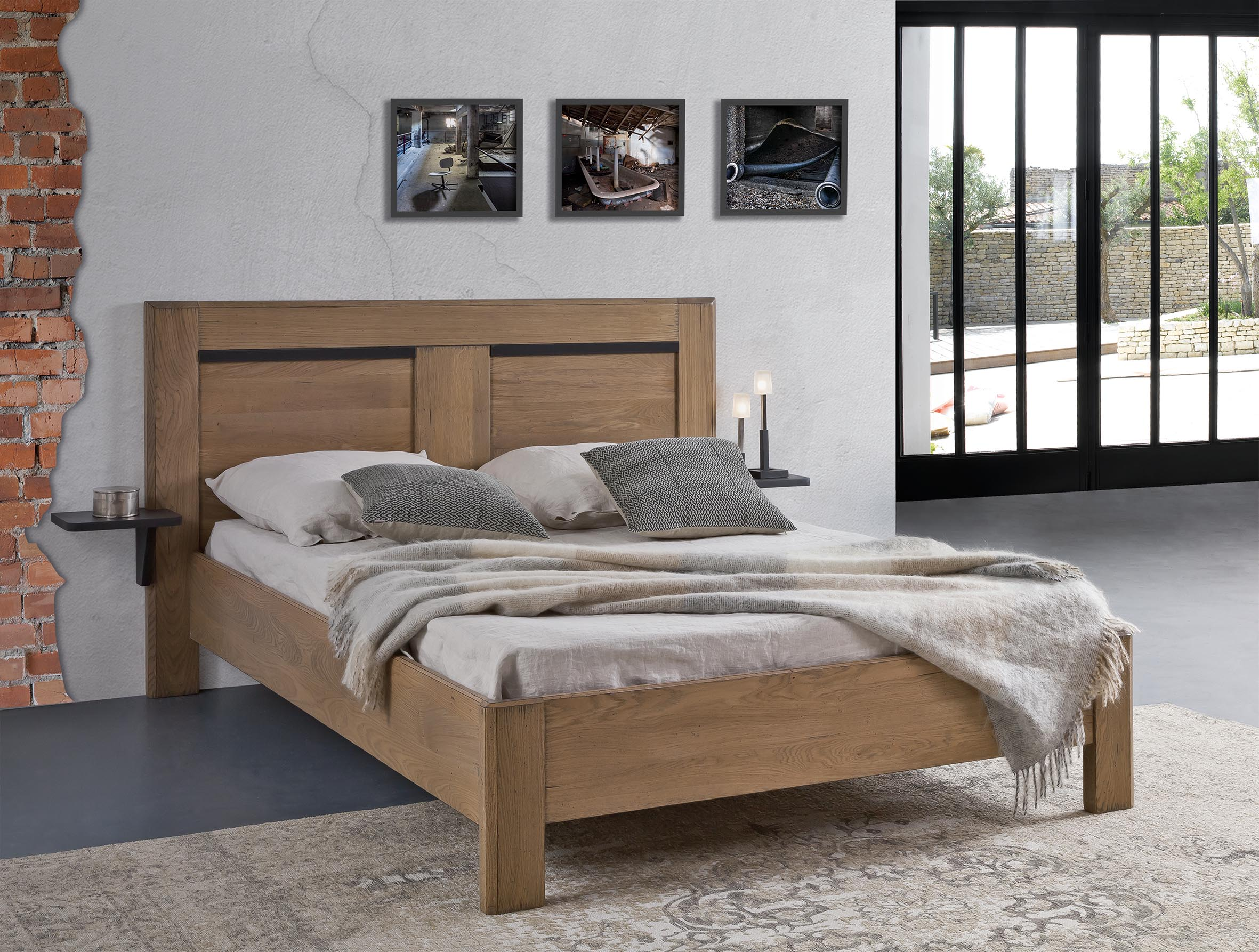 lit contemporain romance pour 160 x 200 ro1620. Black Bedroom Furniture Sets. Home Design Ideas