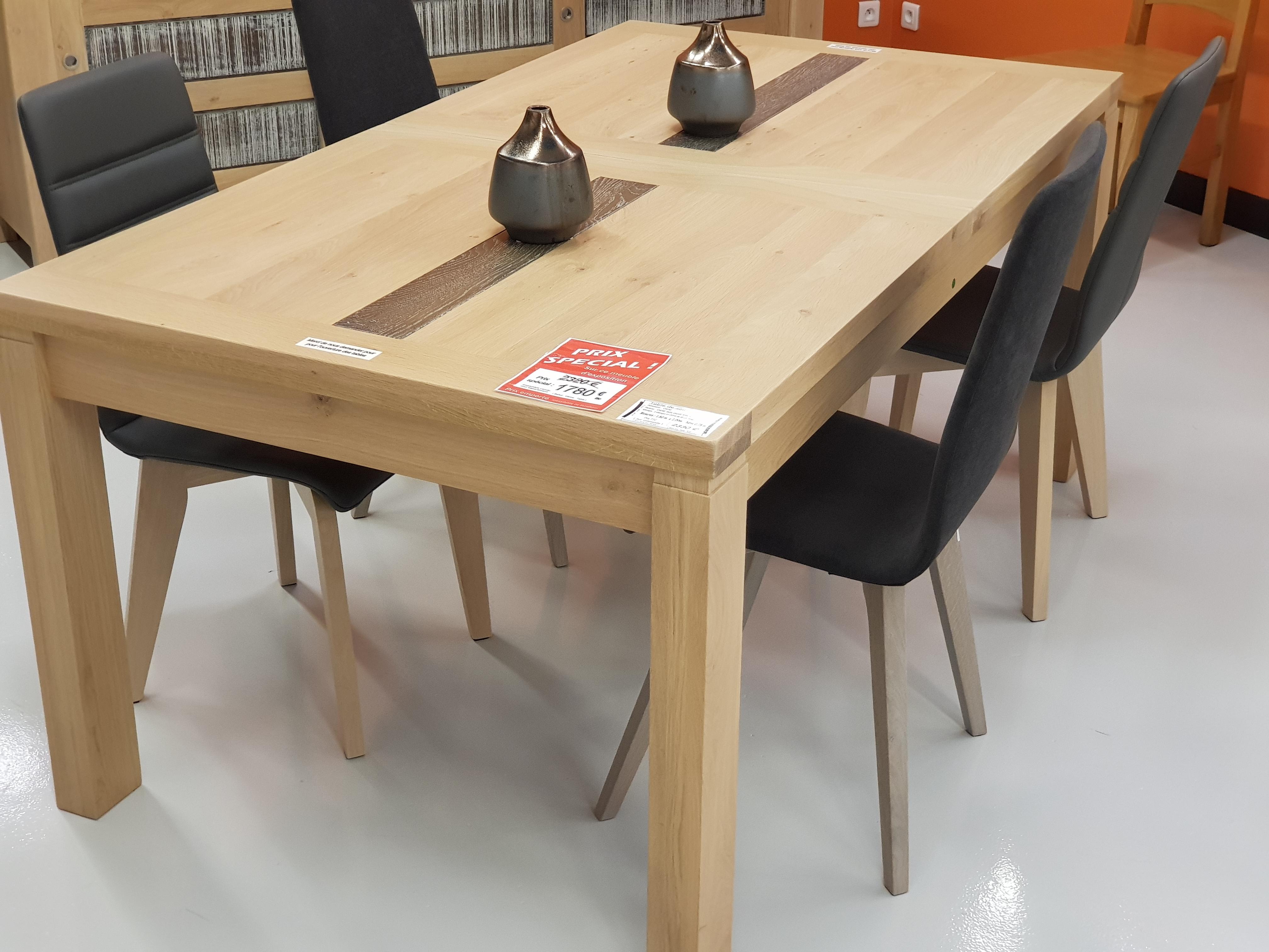 Table avec 2 allonges en ch ne disponible prix sp cial - Table de salle a manger en chene ...