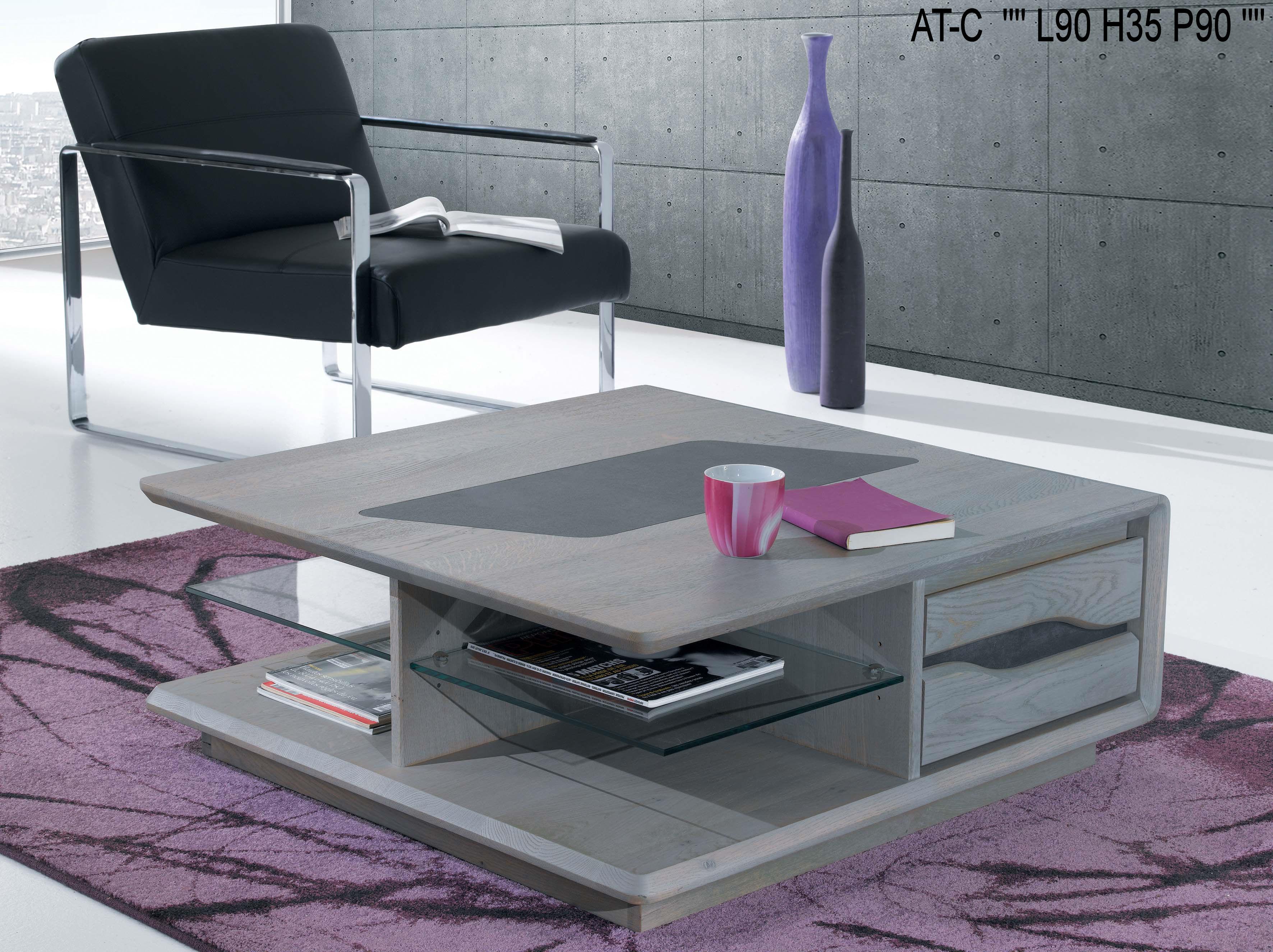 Table Basse Ceram Carree Design Contemporain 9090ce
