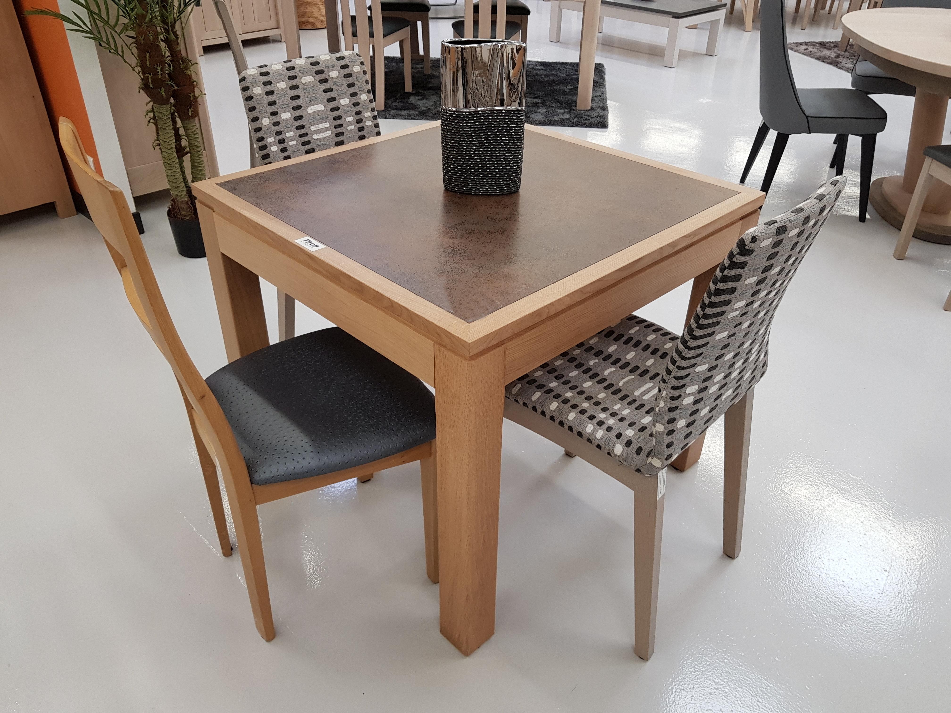 Table Salle A Manger Carré Avec Rallonge table en massif contemporaine moderne bois métal céramique